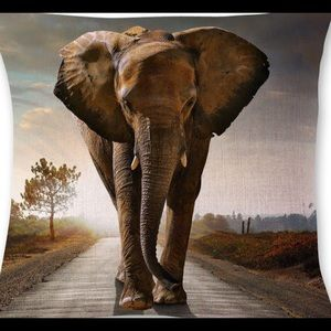 Other - Pillow Cover-New- Amazing Wild Elephant